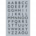 HERMA 4133 英文字母貼紙(銀底黑字) A-Z
