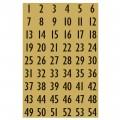 HERMA 4146 數字貼紙(金底黑字) 1-100