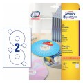 AVERY ZWECKFORM L6043TM-25 CD LABELS 117MM