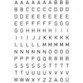 HERMA 4154 英文字母貼紙(透明底黑字) A-Z