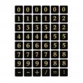 HERMA 4131 數字貼紙(黑底金字) 0-9