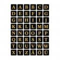 HERMA 4130 英文字母貼紙(黑底金字) A-Z