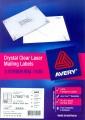 AVERY  L7551/L7560/L7562/L7563/L7565/L7567 A4 全透明鐳射打印標籤 LABEL 10張裝