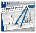 Staedtler Mars Lumograph Art Drawing Pencils, Graphite Pencils in Metal Case, Break-Resistant Bonded Lead, Grades 12B-10H, Set of 24