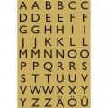 HERMA 4145 英文字母貼紙(金底黑字) A-Z