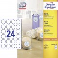 AVERY ZWECKFORM L3415-100 ROUND LABELS ○ 40MM